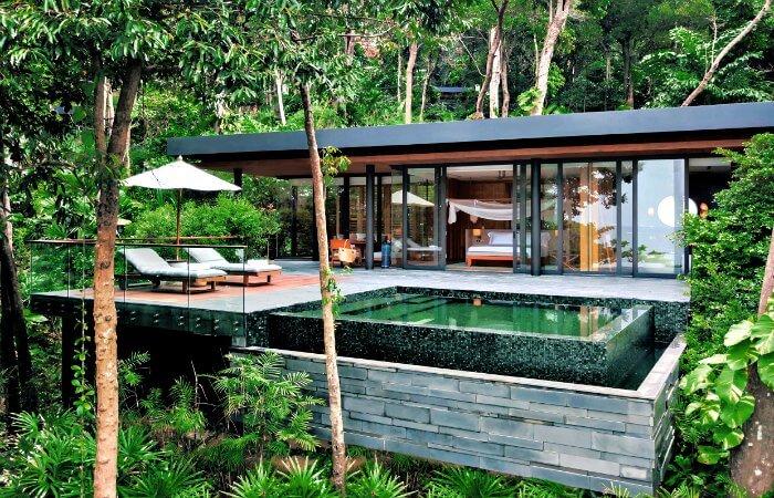 Ocean Pool Villa suite at Six Senses Krabey Island - luxury family holidays