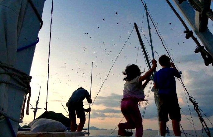 Bai boat trip - summer family holiday