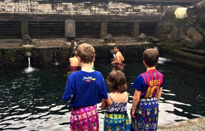 Tirta Empul - Bali with kids