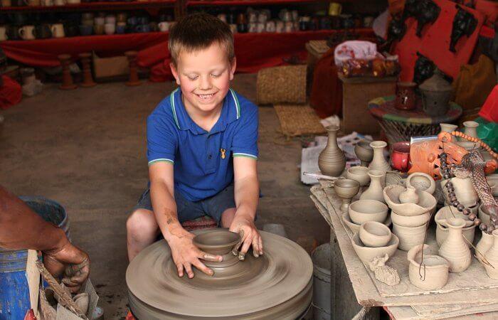 Making pot on Nepal with kids itinerary