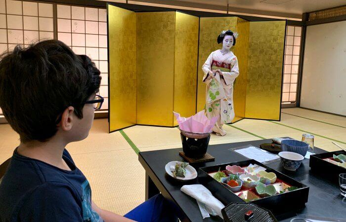 Traditional geisha experience - Japan with kids itinerary
