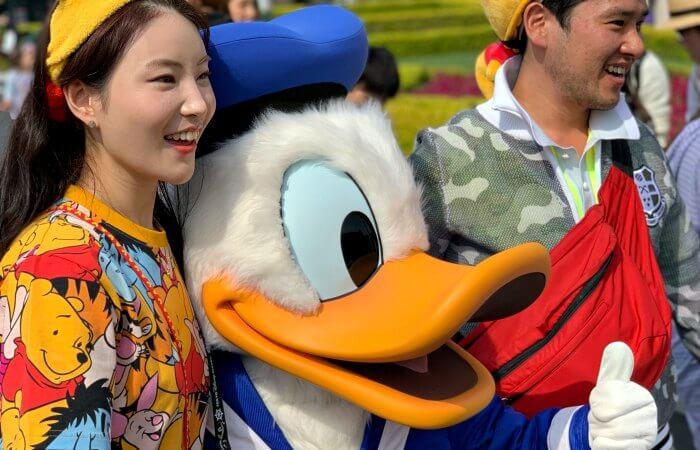 Donald Duck in Disney Land in Tokyo