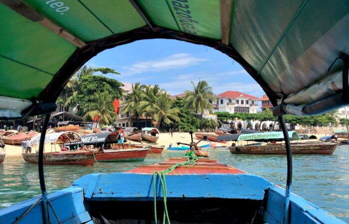 View of Stone Town from the water