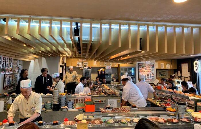 Sushi bar - Tokyo with kids itinerary