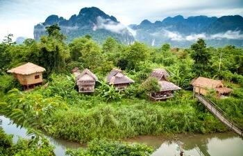 Laos village - School holiday calendar