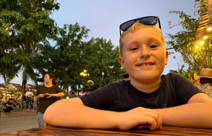 Vietnam customer reviews - child smiling at camera - on holiday in Vietnam