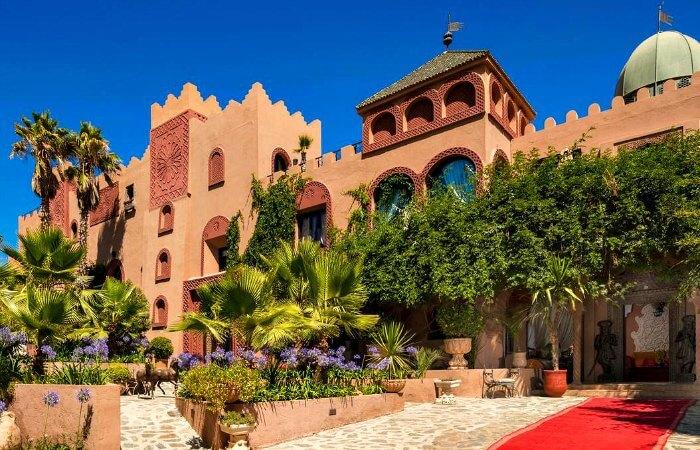 Entrance to luxury Kasbah Tamadot hotel, Morocco