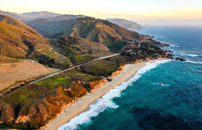 Coastal road in California - Big Sure - best family road trips