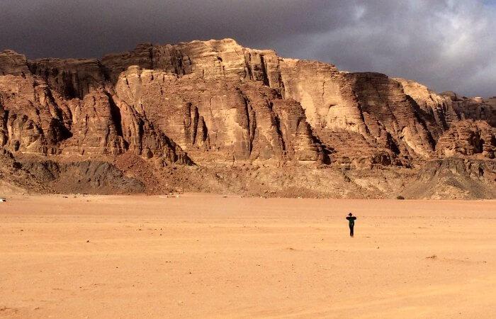 Teenager on a Stubborn Mule holiday, exploring Wadi Rum, Jordan