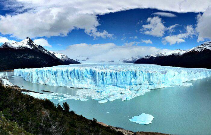 View of Perito Moreno Glacier - Patagonia with kids itinerary