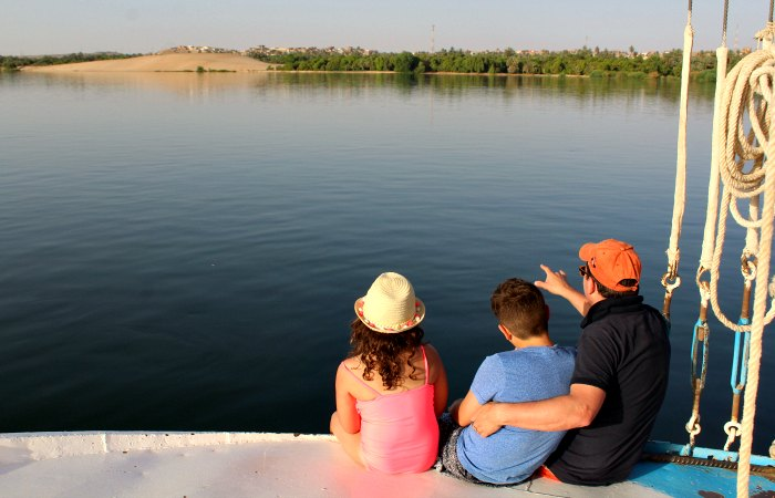Felucca trip on the Nile - October half term holiday to Egypt