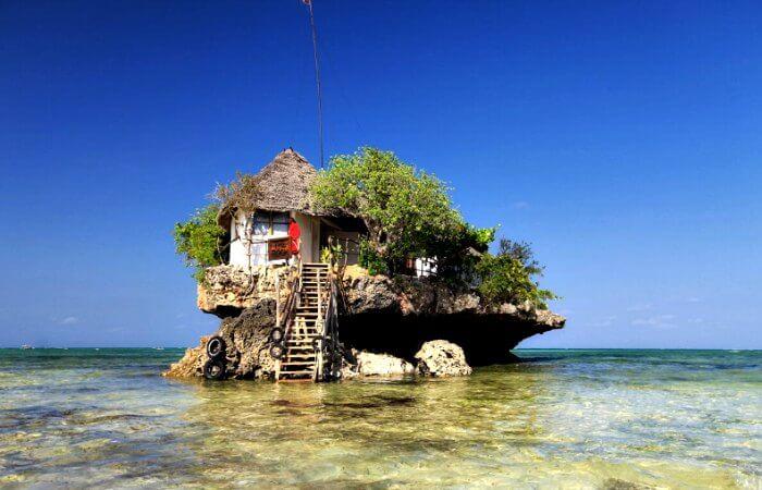 Rock restaurant in Zanzibar - visit on Zanzibar with kids holiday