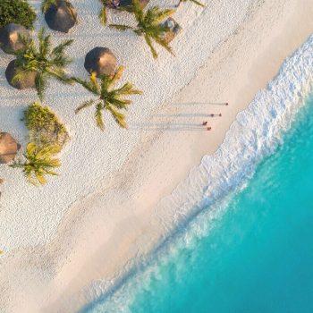 Zanzibar with kids masthead image of beach and azure sea