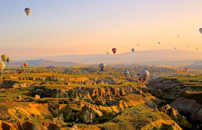 Turkey family holidays - hot air balloons in Cappadocia
