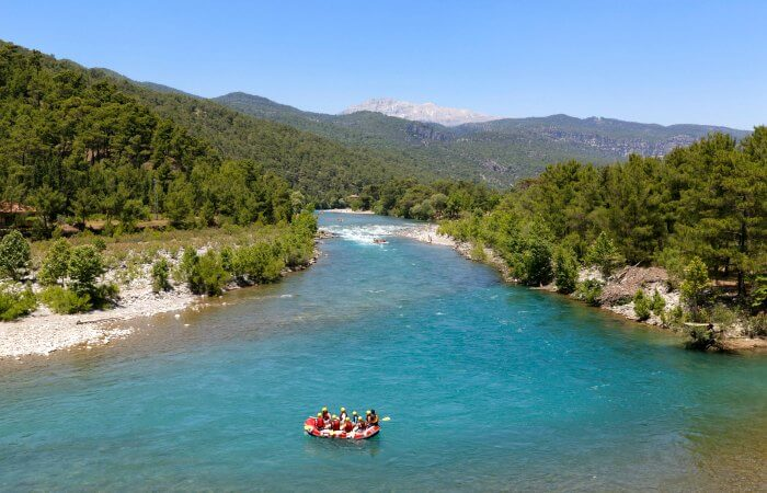 Rafting rafting on the Koprucay River, Koprulu Canyon National Park - Turkey itineraries