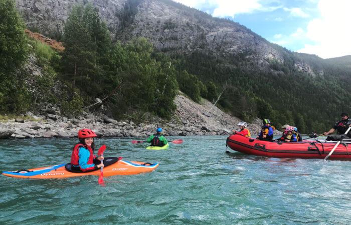 Kayaking on Norway family holidays