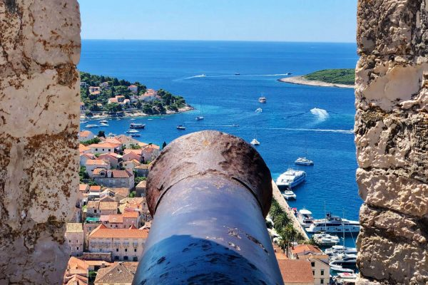 Croatia family holidays - view of Hvar from old city
