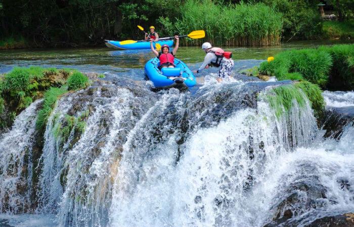 Croatia family holidays - kayaking on River Zrmanja