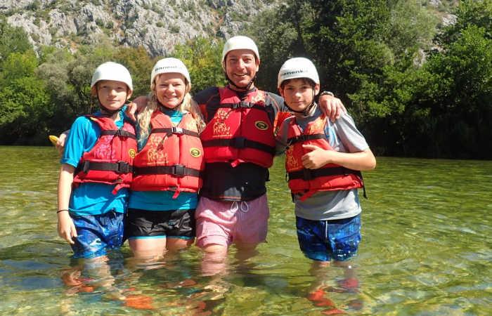 Croatia family holidays - cliff jumping and kayaking
