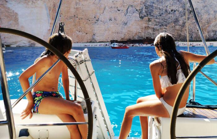 Sailing around Zakynthos - Greece family holidays