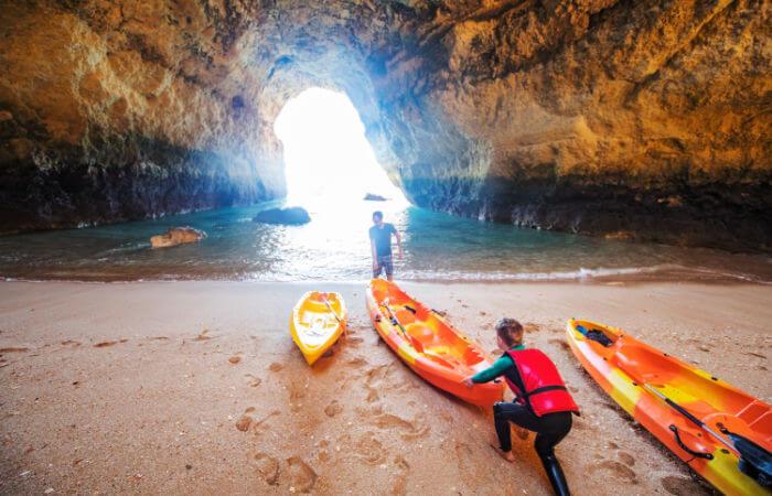 Portugal family holidays - family kayaking on the Algarve
