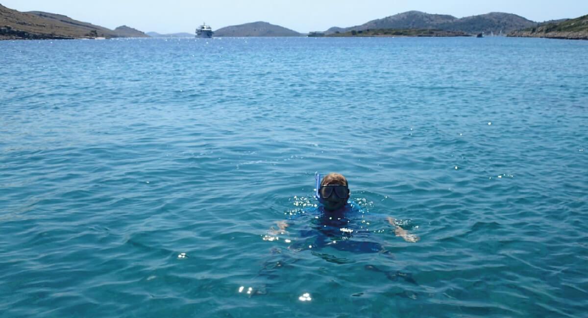 Kids snorkelling - Croatia in Photos
