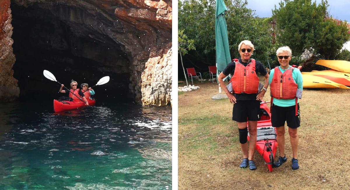 Croatia in photos - kayaking from Lopud Island to sea caves